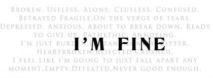 Positive Attitude Im Fine Facebook Covers